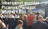 Intercanvi escolar Picanya Panazol 2013. Arribada