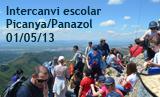 Intercanvi escolar Picanya Panazol 2013. Excursió per la Serra de la Murta