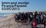 Intercanvi escolar Picanya Panazol 2013. Visita al Saler i Jocs al Pavelló