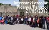 Intercanvi escolar Picanya Panazol 2013. Viatge i arribada a Panazol dels picanyers