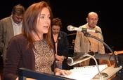 Acte de lliurament del Premi Camí de la Nòria 2013. Laura Cabedo.