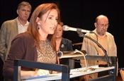 Acte de lliurament del Premi Camí de la Nòria 2013. Larua Cabedo.