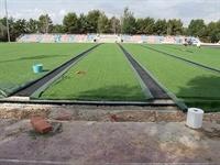 Instal·lació de gespa artificial al camp de futbol del Poliesportiu Municipal 8