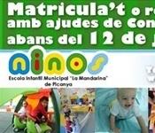 Escola Infantil: El 12 de juliol és la data límit per a  optar a  ajudes de Conselleria