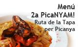 Menú de la 2a PicaNYAM! Ruta de la tapa per Picanya