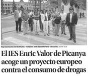 El IES Enric Valor acoge un proyecto europeo sobre prevención del consumo de drogas
