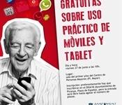 Charla para mayores sobre el uso de móviles y tablets