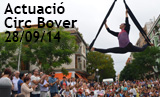 Actuació Circ Bover amb motiu del 25é aniversari del Centre Cultural