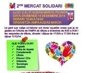 Segona edició del Mercat Solidari de l'AMPA de l'escola Ausiàs March