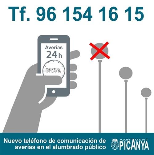 24H EMERGENCY PHONE enllumenament