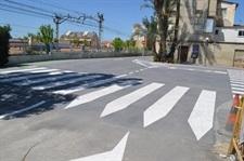 Connexió del carril bici de 9 d'octubre i carrer Oriola