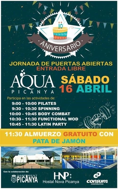 10 aniversario aquapicanya jornada de puertas abiertas