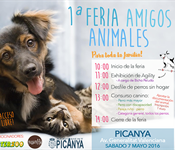 Cartel feria animalees Picanya 7 de mayo 16 700 pxl