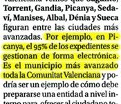 """""""Picanya es el municipio más avanzado de la CV en gestión electrónica de expedientes"""""""