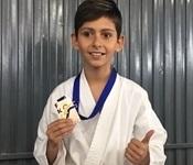 El picanyer Iván Vázquez tercer al campionat provincial de karate