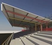 Nou sostre per a la grada del camp de futbol