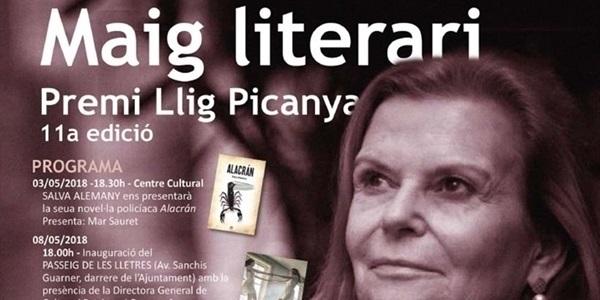 Carme Riera rebrà el premi Llig Picanya 2018