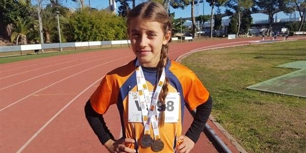 La picanyera Emma Jiménez triomfa al provincial d'atletisme