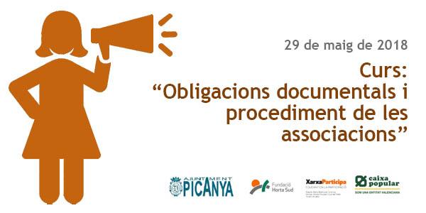 """Curs pràctic """"Obligacions documentals i procediment de les associacions"""""""