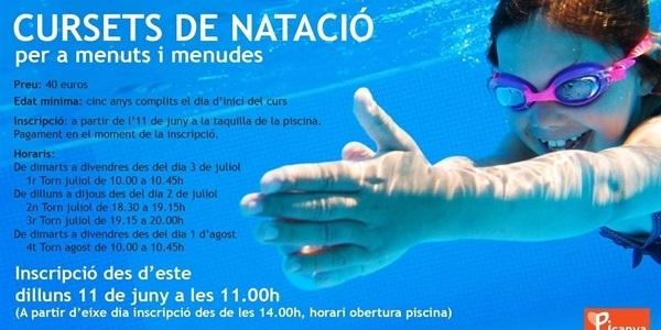 Cursets de natació per a menuts i menudes a les piscines del Poliesportiu