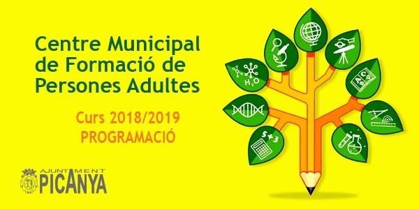 El Centre Municipal de Formació de Persones Adultes obri el curs 2018/2019