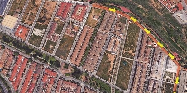 Reordenació del trànsit al final de Sanchis Guarner