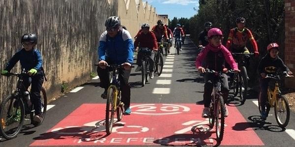 Prop de 400 ciclistes a la nova edició del Cicle-Passeig per l'Horta