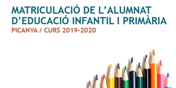 Al maig arranca el procés de matrícula per a educació infantil i primària