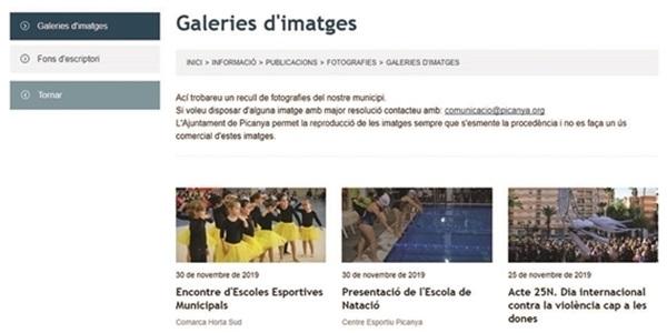 Més de 20.000 fotografies a la web municipal