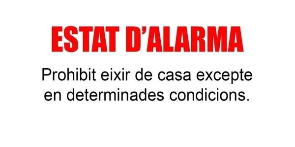 Estat d'alerta: prohibida la lliure circulació