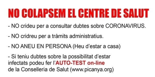 No colapsem el Centre de Salut de Picanya