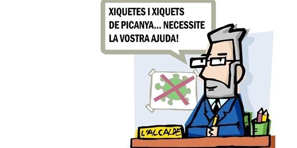 L'Alcalde de Picanya demana ajuda a menudes i menuts