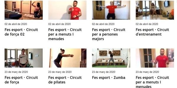Vídeos per a fer exercici físic (a casa) per a totes i tots a Picanya TV