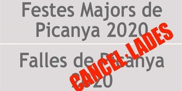 Suspeses les Festes Majors de Picanya 2020