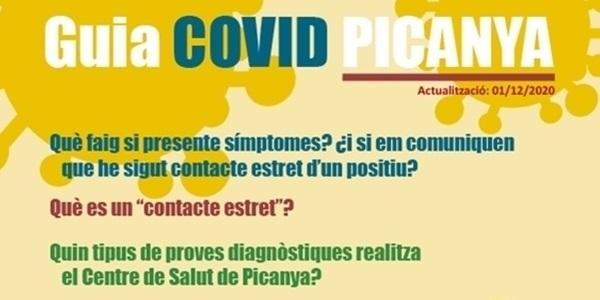 Guia COVID Picanya, un document que recull la informació bàsica de la malaltia al nostre poble