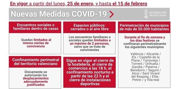 La Generalitat Valenciana publica noves mesures per a contindre l'expansió del coronavirus