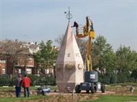 Rehabilitació del monolit del rellotge de sol de la Rotonda dels Vents 2
