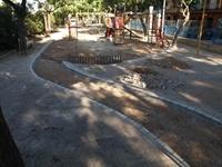 Instal·lació de paviment de seguretat sota els Jocs Infantils dels parcs municipals 7